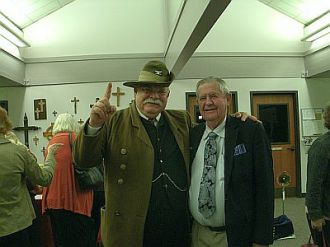 Darrell Draper as Theodore Roosevelt, with Bill Todd.